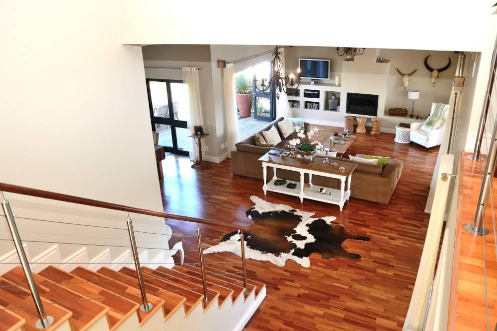 Sea House, Knysna group accommodation; Beautiful cherry-wood flooring throughout