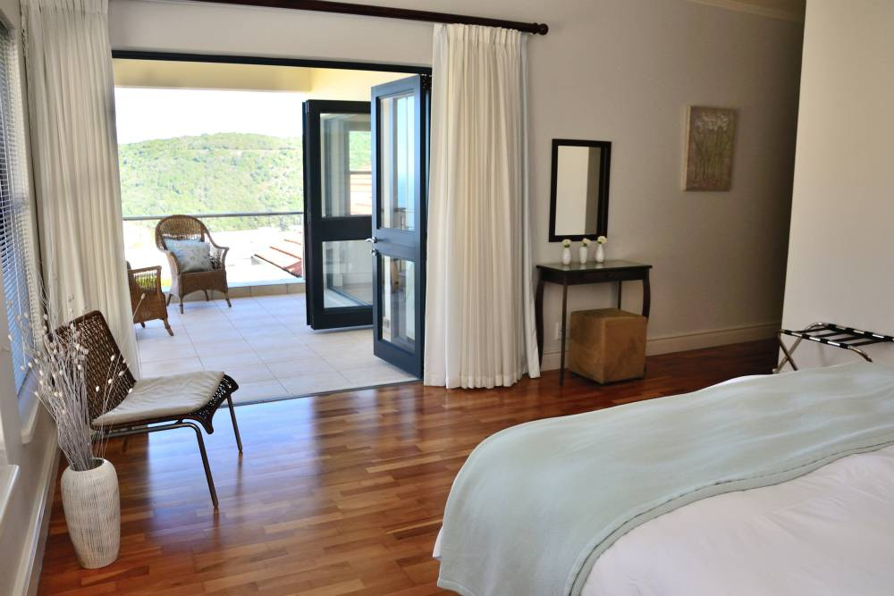 Sea House, Knysna group accommodation; Featherbed Reserve across the water