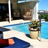 Sea House, Knysna group accommodation; Pool contours