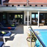 Sea House, Knysna group accommodation; Ready for enjoying, the outside pool & braai patio