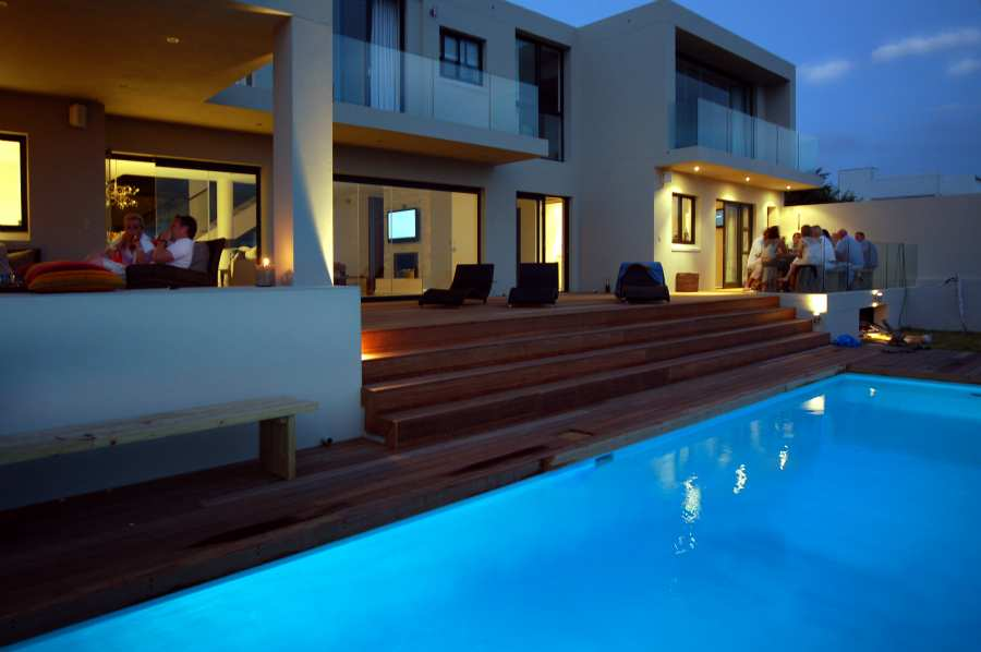 Home by the Sea, Plettenberg Bay Seaside accommodation; Al fresco dining and fire-side reclining