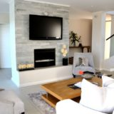 The main living area is open-planned and contemporary