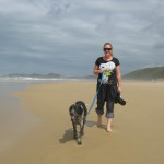 Walking Dixie at Brenton on Sea