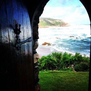 Perfectly framed - Noetzie Beach from Lindsay Castle