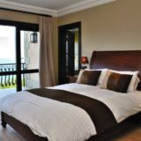 Villa Seaview, Knysna heads villa accommodation; Bedroom 4 with it's en-suite and balcony