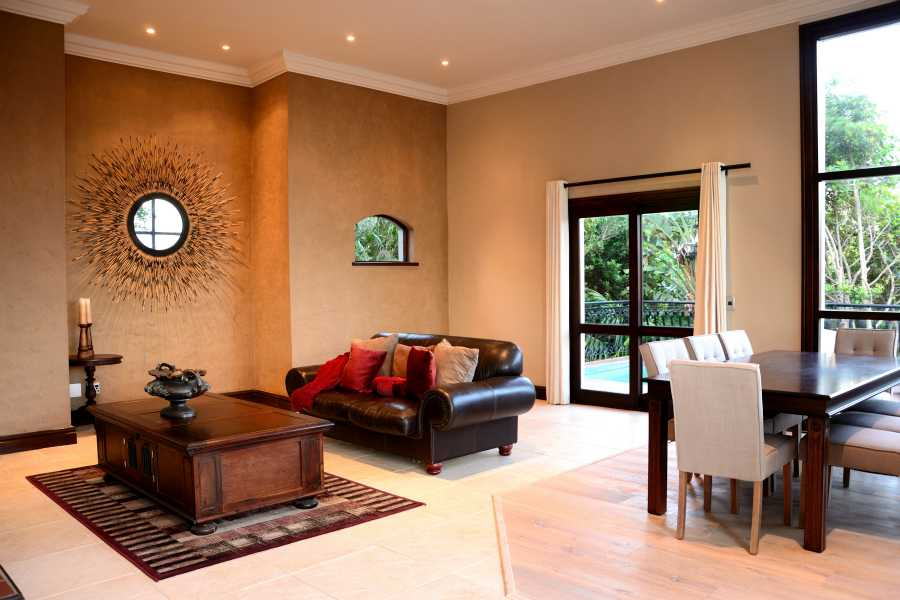 Villa Seaview, Knysna heads villa accommodation; The Dining and second Lounge area leading to the pool