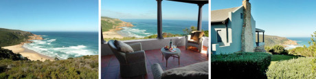 Noetzie Bay House looks over the ocean