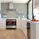 The kitchen and scullery is very well-stocked and equipped at Beachscape on Keurboomstrand, Plettenberg Bay Beach accommodation