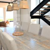 Beautifully appointed, open-planned spaces and the dining area at Beachscape on Keurboomstrand, Plettenberg Bay Beach accommodation