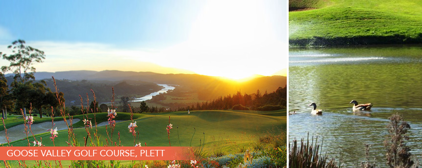 top holiday destinations for golfing getaways. Knysna and Plett luxury accommodation golfing estate