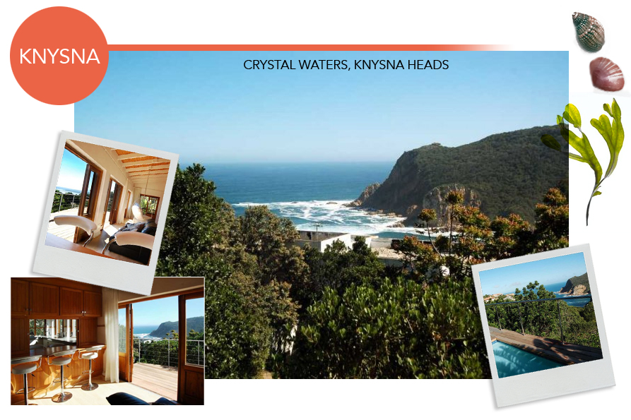 knysna accommodation luxury rentals knysna heads crystal waters