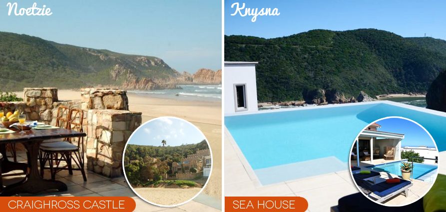 garden route self catering accommodation Noetzie castle luxury rental villa knysna heads