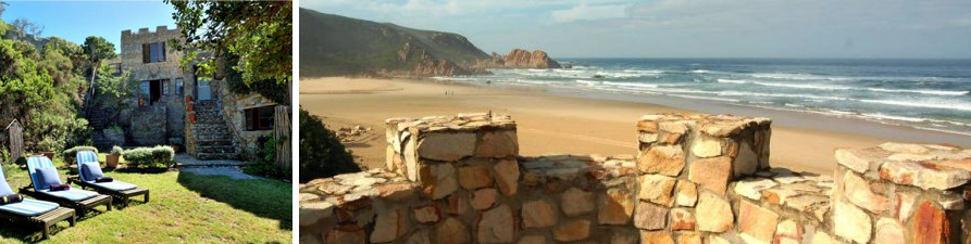 garden route self catering accommodation Noetzie castle luxury rental knysna