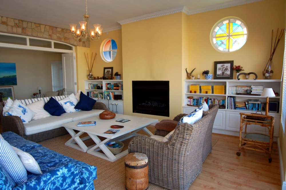 Craighross Castle, Noetzie Castle beach accommodation; Inside it has a beachy-feel and is very comfortable