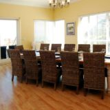 Craighross Castle, Noetzie Castle beach accommodation; Ample space for 12 at the custom-built dining table