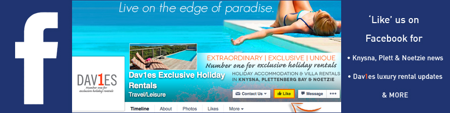 Follow us on Facebook for knysna and garden route news, noetzie and plett updates, holiday info travel tips and more