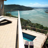 Eagle House, Knysna Heads Accommodation; The views from up top – Master bedroom balcony