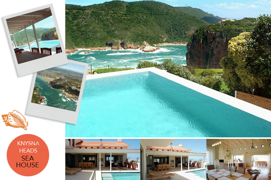Knysna accommodation comfort and luxury holiday vacation romantic getaway exclusive self-catering rentals Knysna Heads Beachfront Villa