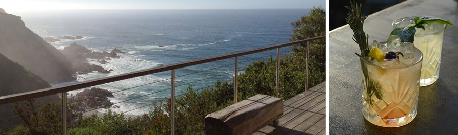 Blue Horizon in Knysna has an impressive decked balcony with a stunning view of the Indian Ocean. The ideal spot for a sunset drink or a morning of whale and dolphin watching.