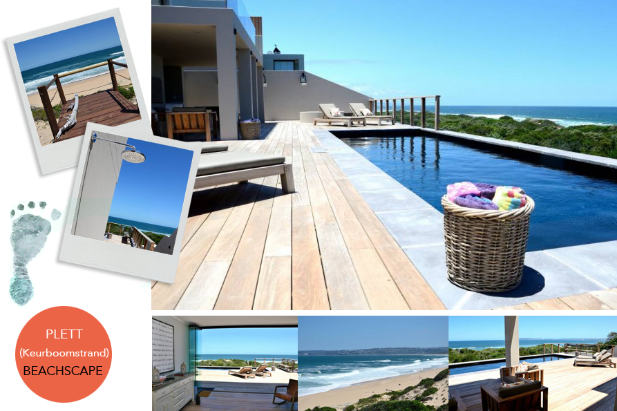 Beachscape is situated in renowned Keurboomstrand, 5km east of Plettenberg Bay, and less than 100m from the pristine sandy beach and dunes - perfect for avoiding the Garden Route peak season rush.