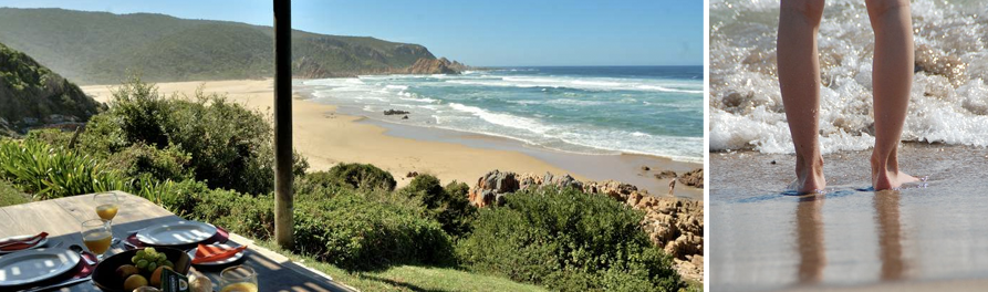 Lindsay Castle in Noetzie is positioned on the beach for direct access to the coastline and spectacular views. A perfect spot to enjoy a beach picnic with a summer salad.