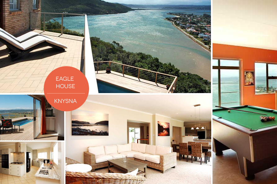 While you're taking in all the Garden Route activities on offer, stay in a luxury holiday rental like Eagle House, situated on the Eastern Knysna Head above the lagoon