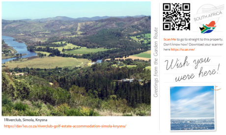 Wish you were here virtual postcard, 1Riverclub, Simola, Knysna