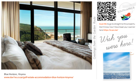 Wish you were here at Blue horizon, Knysna Heads