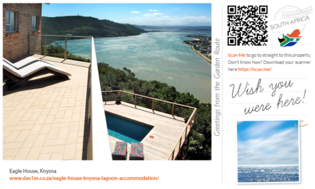 Wish you were here at Eagle House, Knysna Heads