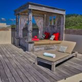 Home by the Beach, Plettenberg Bay, Beach Accommodation, Day Bed - Rooftop Level