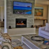 Home by the Beach, Keurboomstrand, Plettenberg Bay, Beach Accommodation, Inside lounge with cosy fireplace