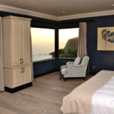 Villa Seaview,Knysna Heads Villa Accommodation, Upstairs bedroom with bright decor