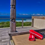 Home by the Beach, Keurboomstrand, Beach Accommodation, View from the day bed
