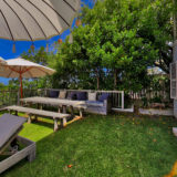 Lookout House, Luxury Plettenberg Bay Accommodation, poolside garden
