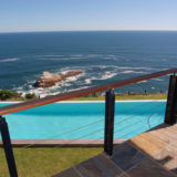 Cliff House, Seaview Accommodation, Knysna, VIew of the pool from the upper level