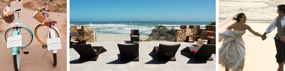 Castle wedding venues at Noetzie beach on The Garden Route