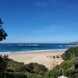 Beach Cove Villa, sea view accommodation Plett, view toward the BI hotel