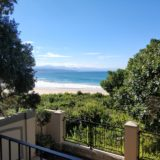 Beach Cove Villa, sea view accommodation Plett, view towards the Outeniqua mountains
