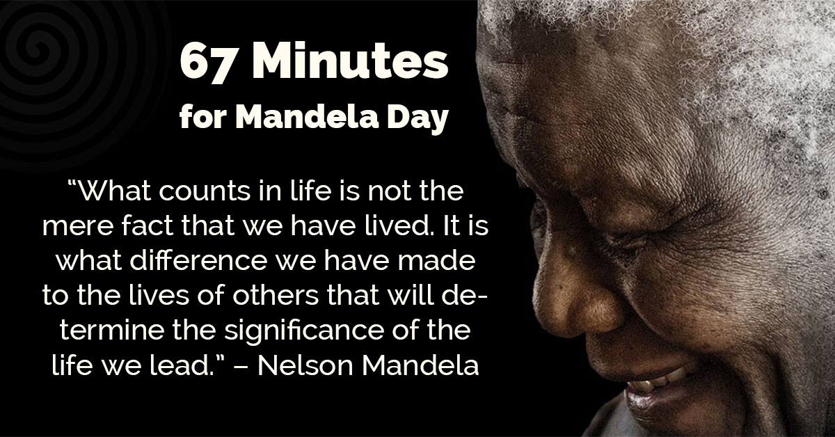 67 Minutes for Mandela Day